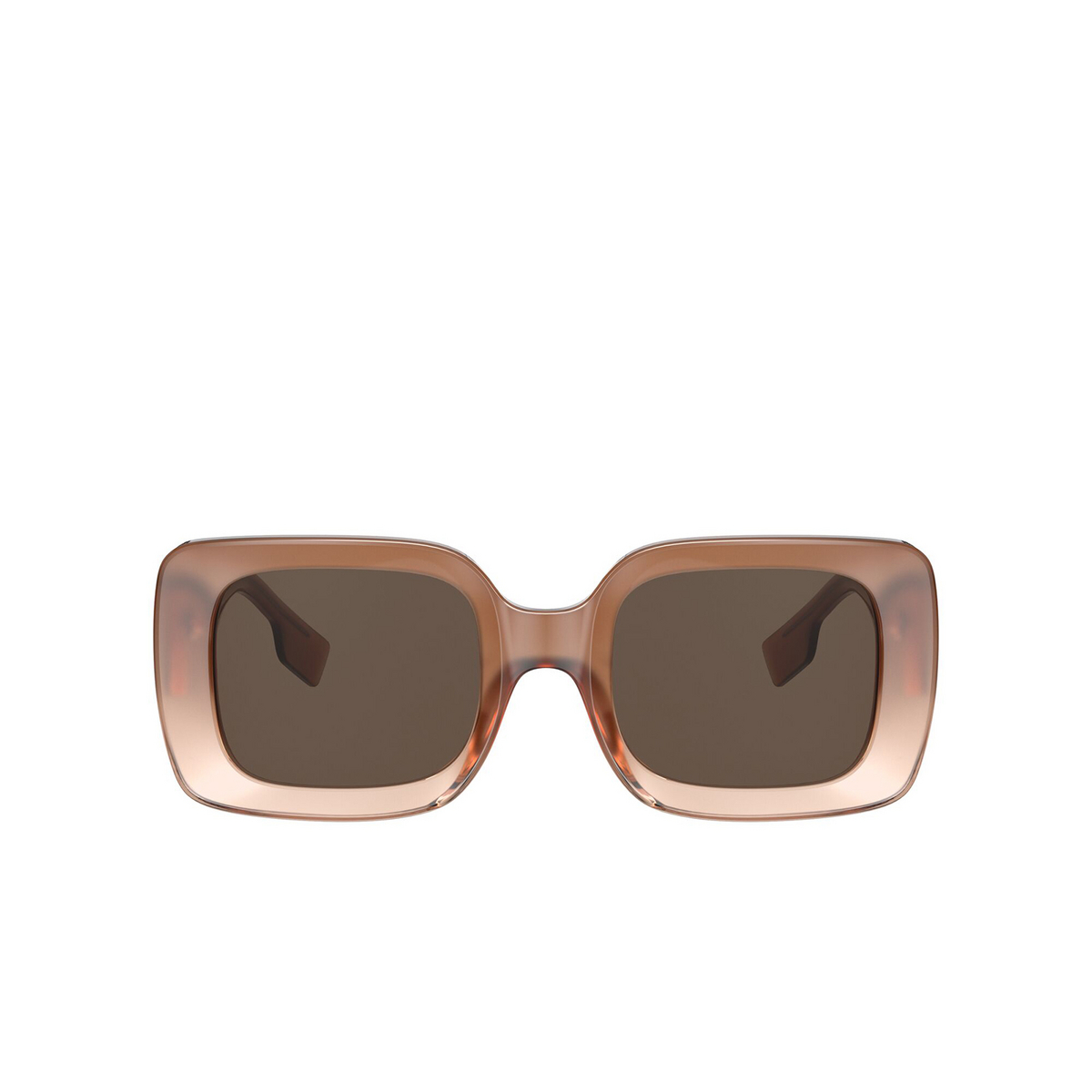 Burberry® Square Sunglasses: Delilah BE4327 color Brown 317373 - front view.