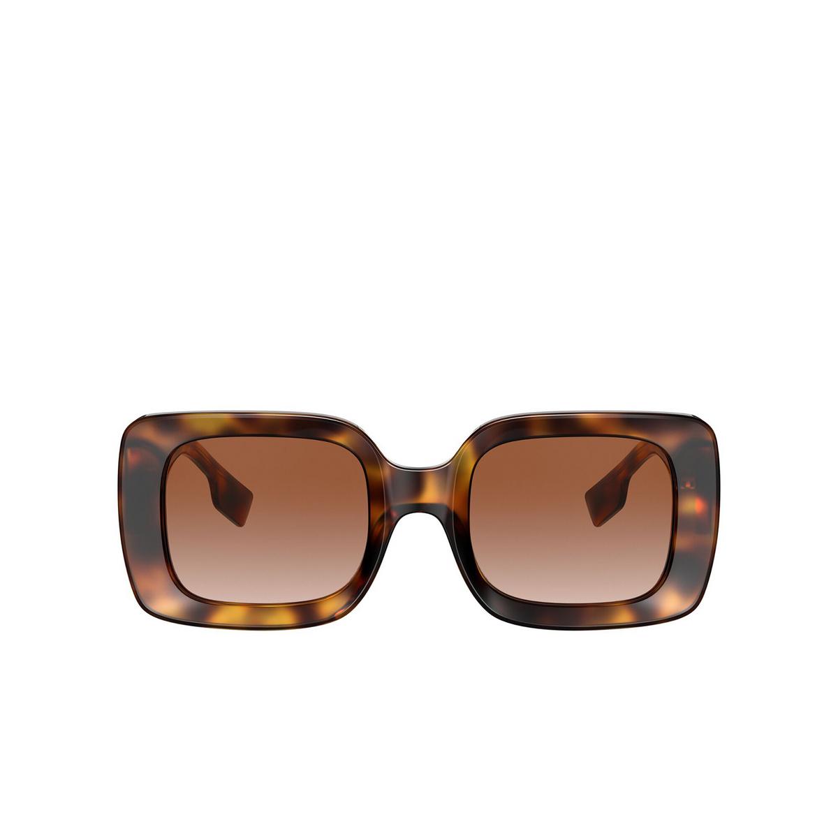 Burberry® Square Sunglasses: Delilah BE4327 color Light Havana 331613 - front view.