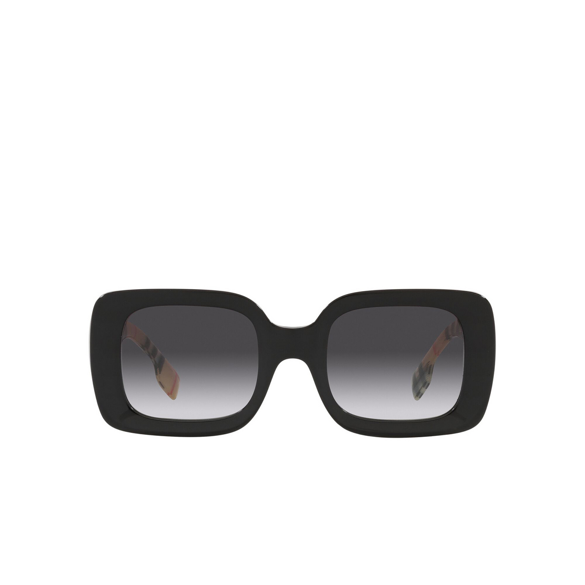 Burberry® Square Sunglasses: Delilah BE4327 color Black 37578G - front view.
