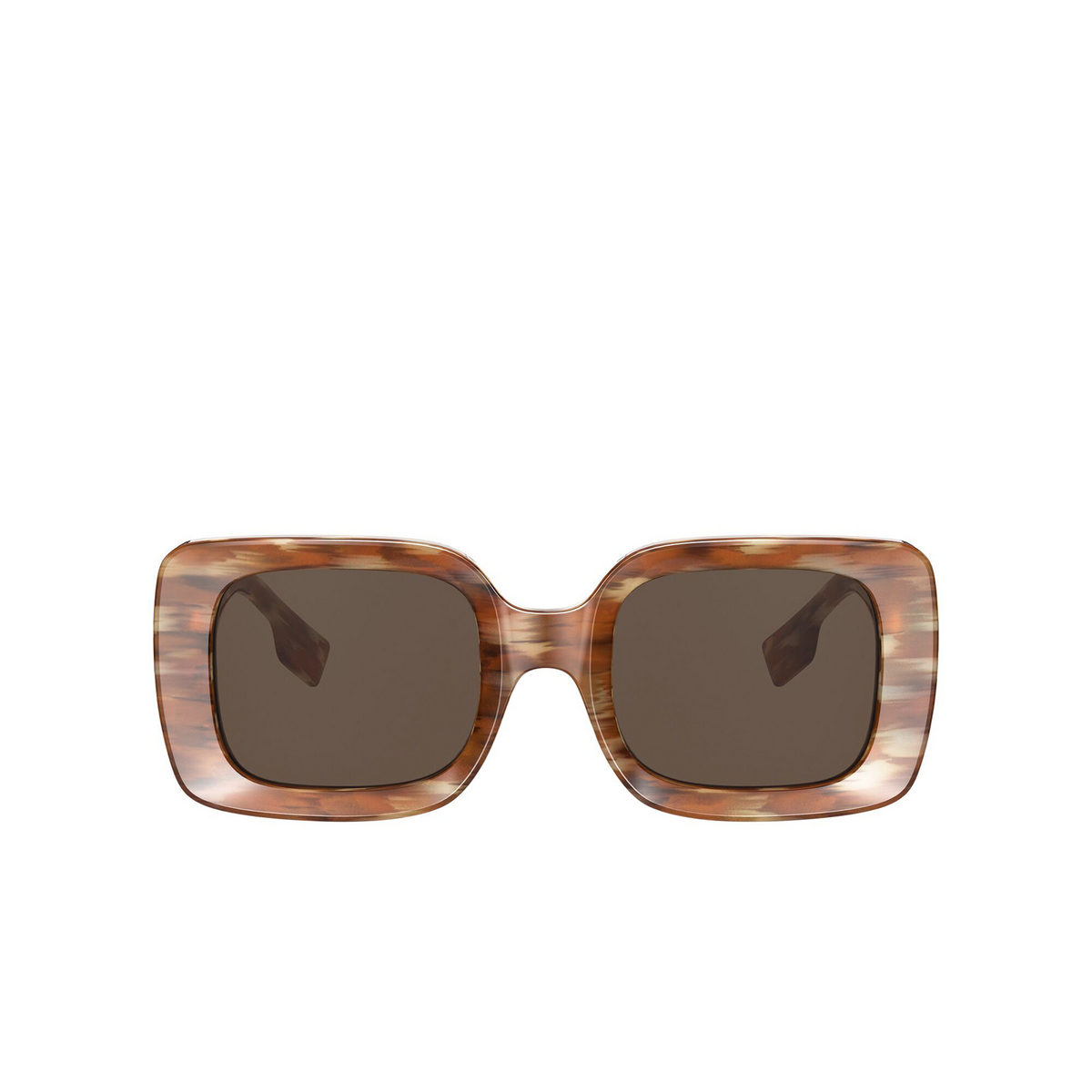 Burberry® Square Sunglasses: Delilah BE4327 color Brown 391573 - front view.
