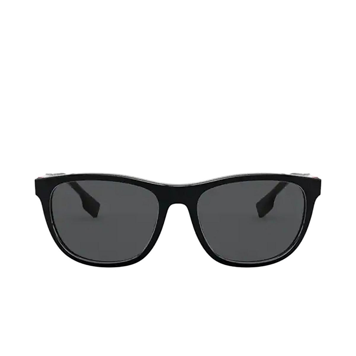 Burberry® Rectangle Sunglasses: Ellis BE4319 color Black 300187 - front view.