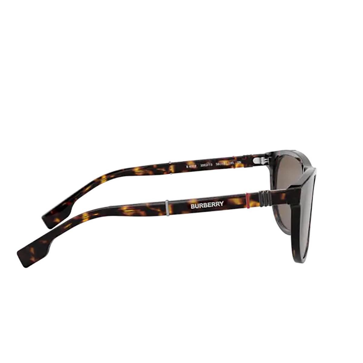 Burberry® Rectangle Sunglasses: Ellis BE4319 color Dark Havana 300273 - 3/3.