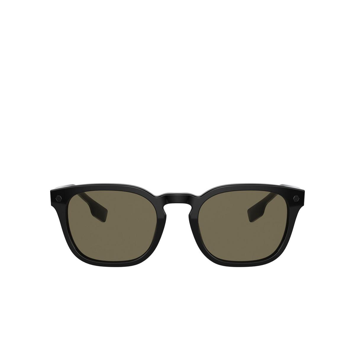 Burberry® Square Sunglasses: Ellis BE4329 color Black 3001/3 - front view.