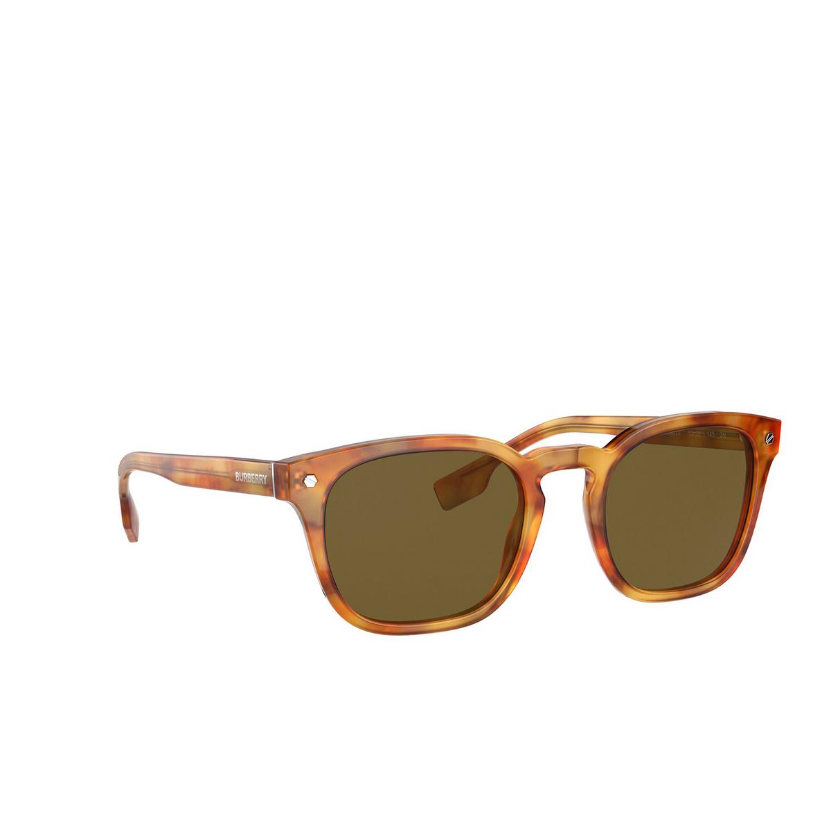 Burberry® Square Sunglasses: Ellis BE4329 color Dark Havana 300273 - three-quarters view.