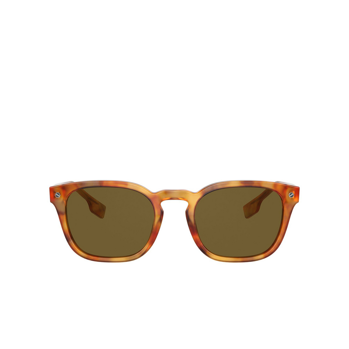 Burberry® Square Sunglasses: Ellis BE4329 color Dark Havana 300273 - front view.