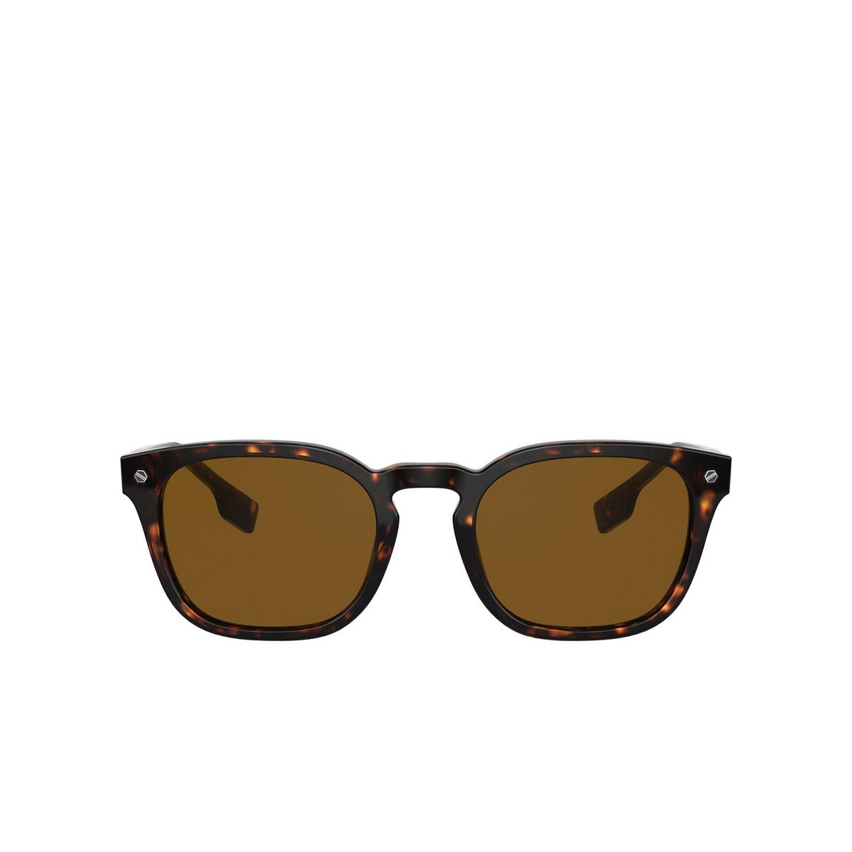 Burberry® Square Sunglasses: Ellis BE4329 color Dark Havana 300283 - front view.