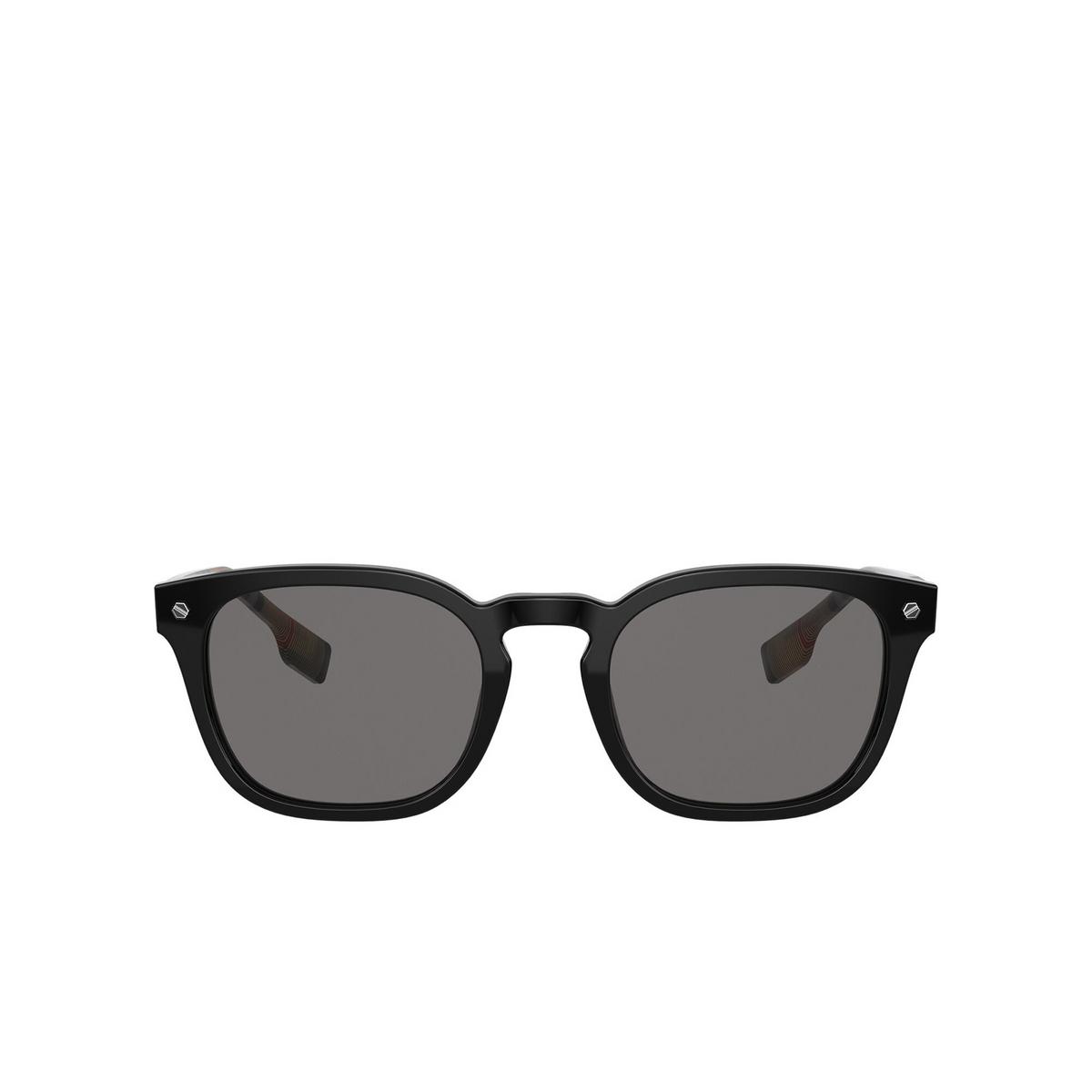Burberry® Square Sunglasses: Ellis BE4329 color Black 375787 - front view.