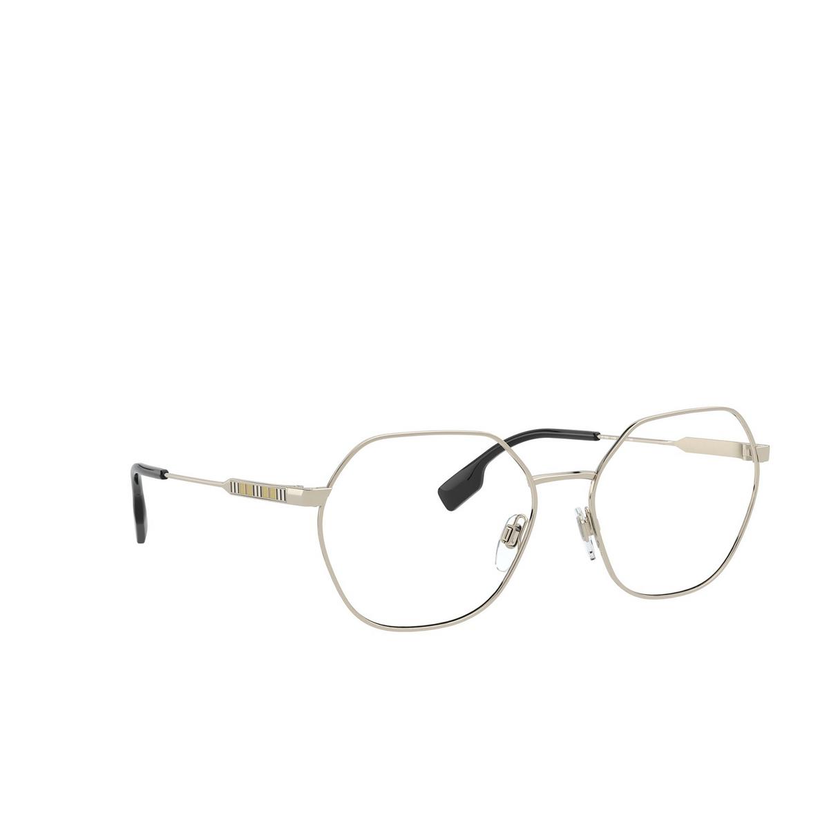 Burberry® Irregular Eyeglasses: Erin BE1350 color Light Gold 1109 - three-quarters view.
