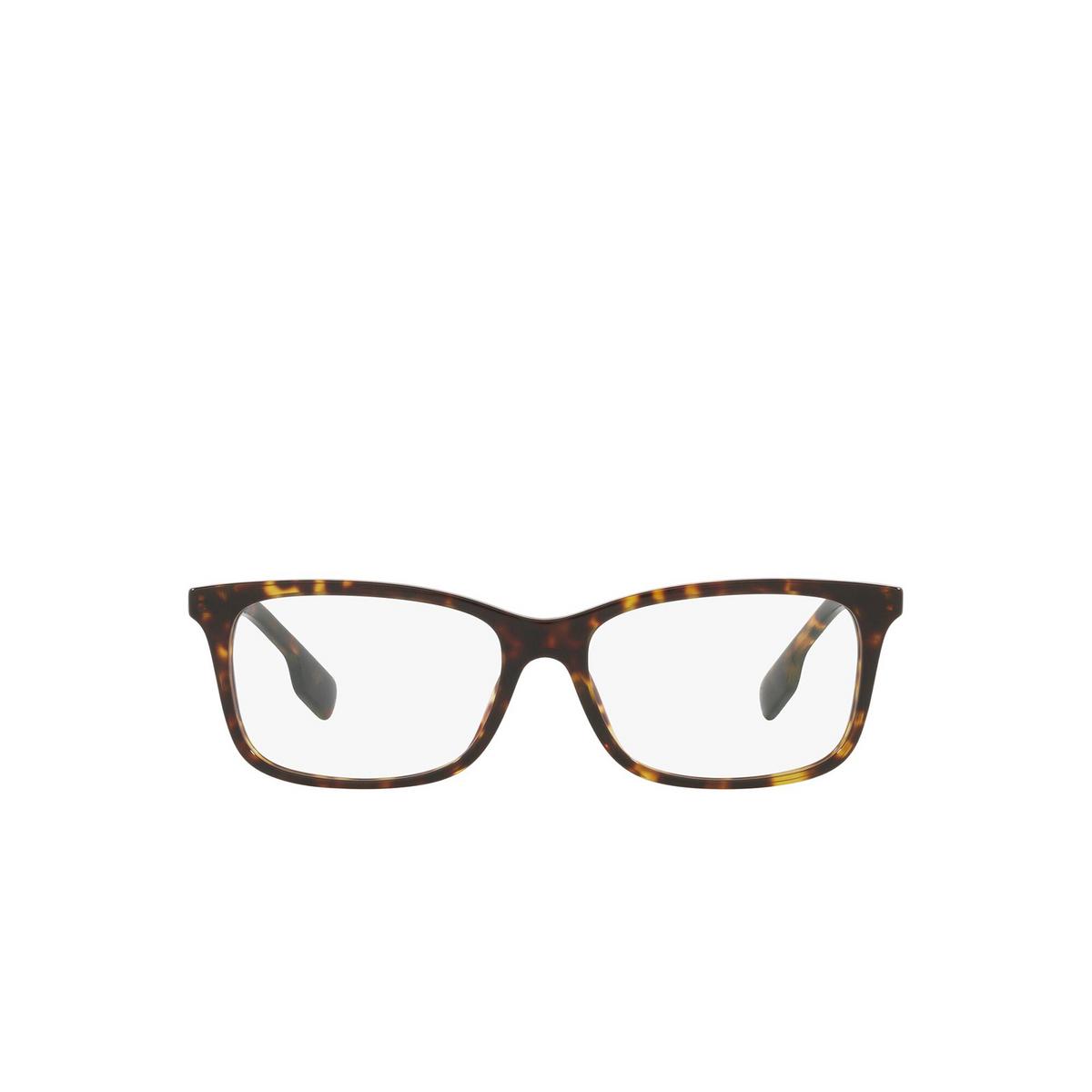 Burberry® Rectangle Eyeglasses: Fleet BE2337 color Dark Havana 3002 - front view.