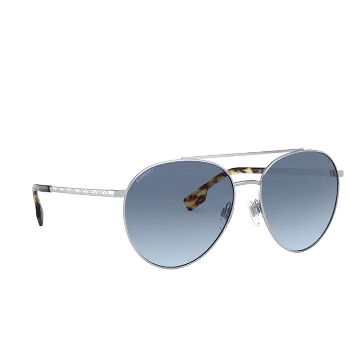 Burberry® Aviator Sunglasses: Gloucester BE3115 color Silver 100519 - 2/3.
