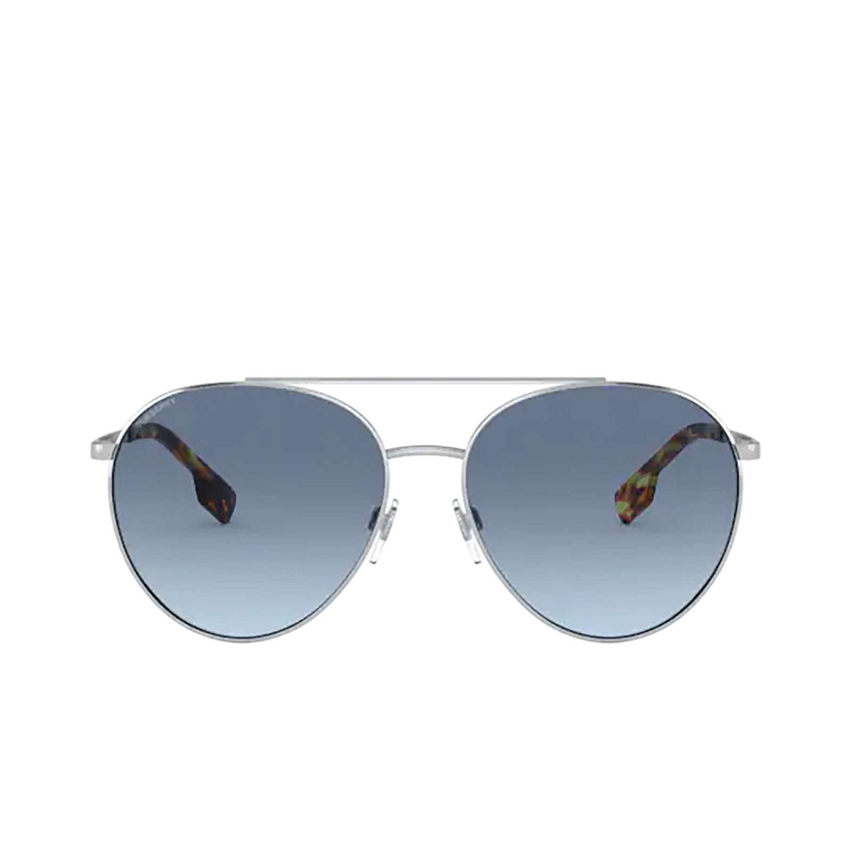 Burberry® Aviator Sunglasses: Gloucester BE3115 color Silver 100519 - 1/3.