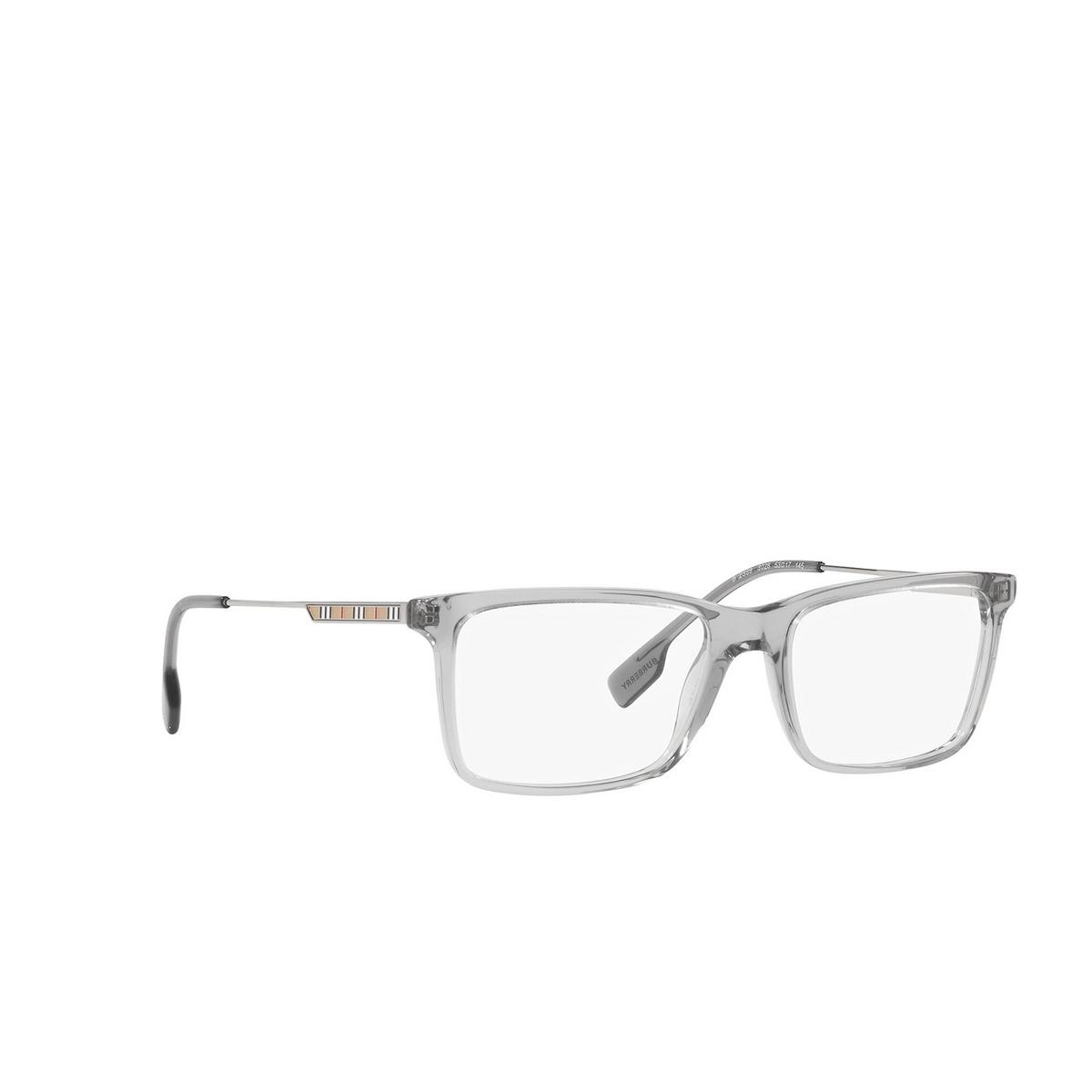 Burberry® Rectangle Eyeglasses: Harrington BE2339 color Grey 3028 - three-quarters view.