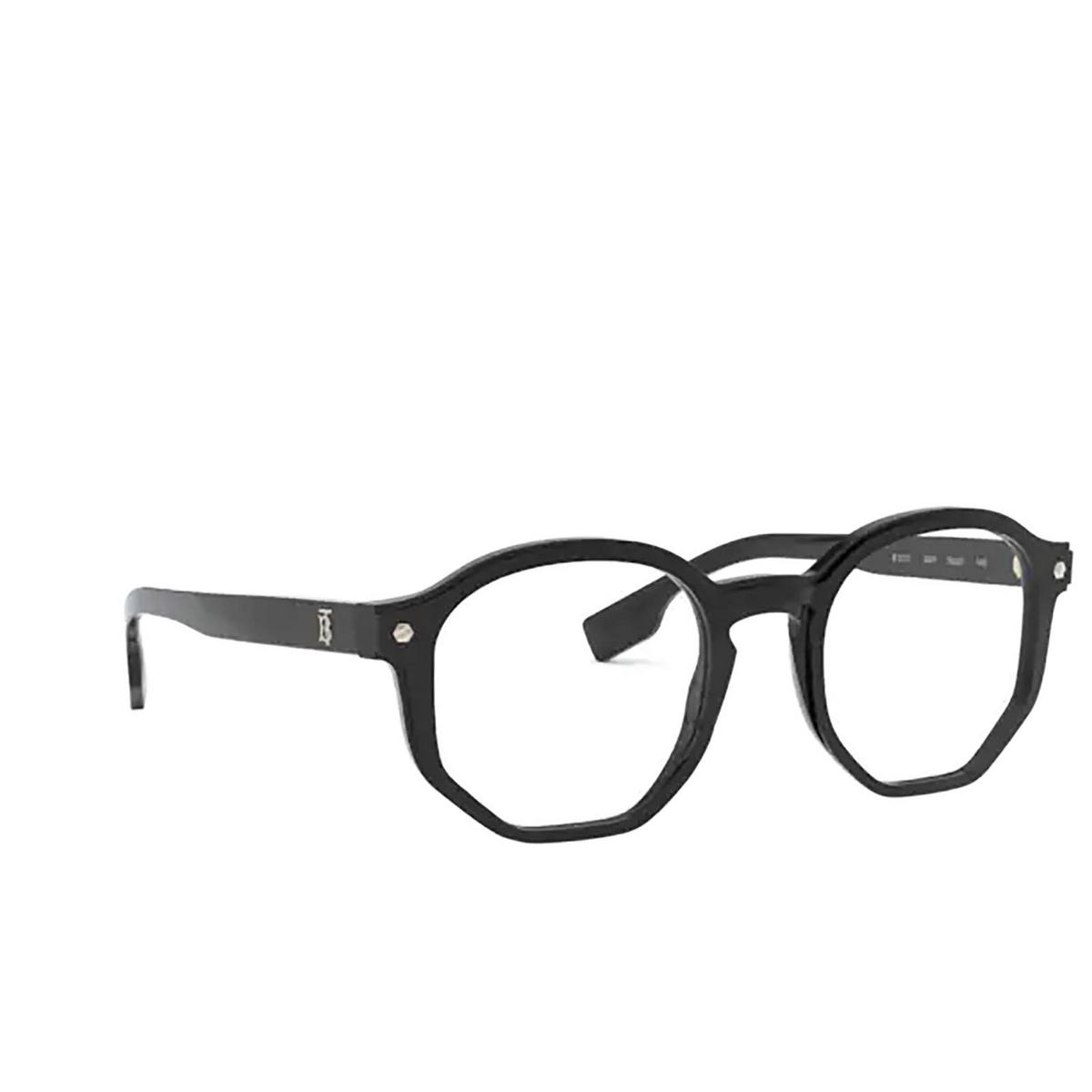 Burberry® Irregular Eyeglasses: Hogarth BE2317 color Black 3001 - three-quarters view.