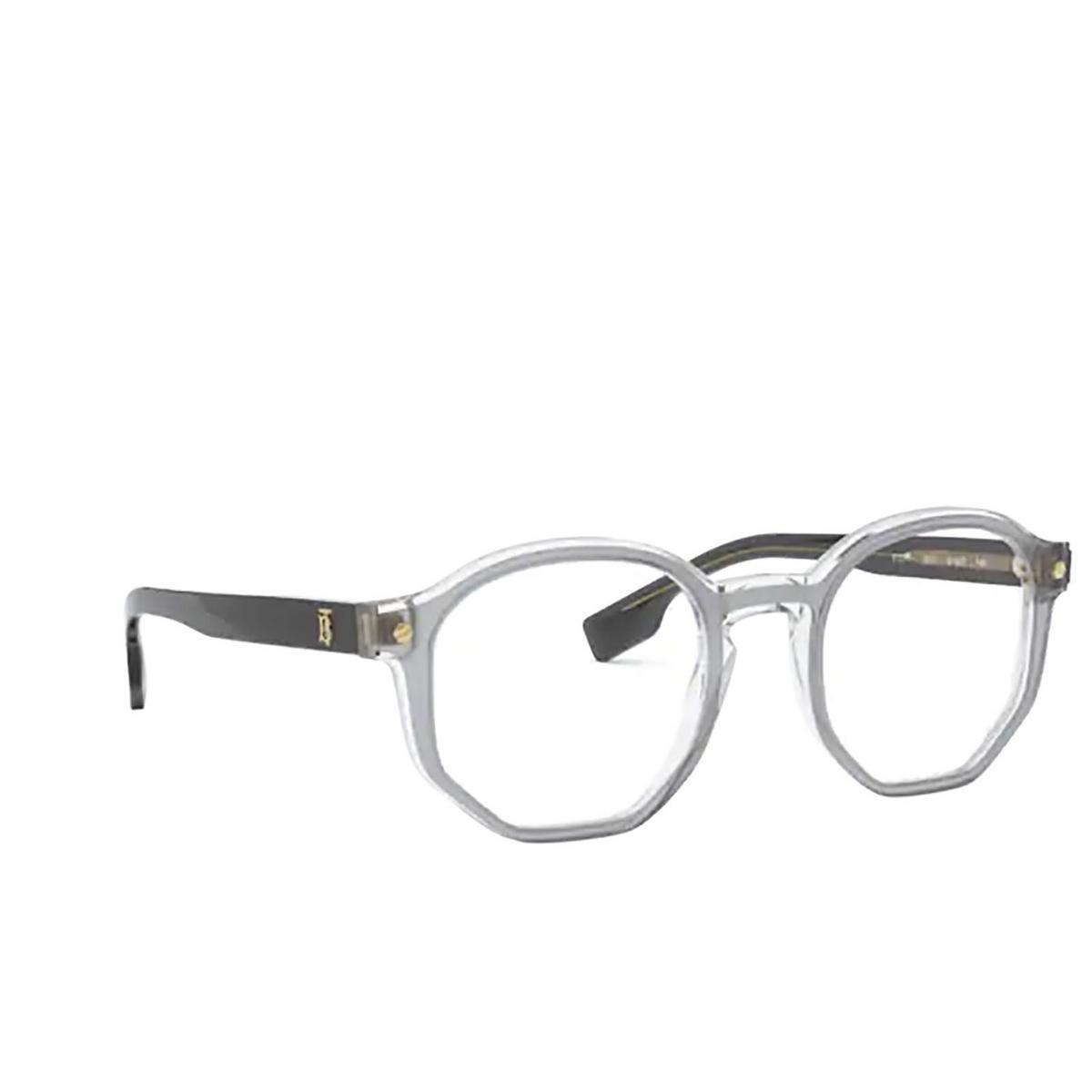 Burberry® Irregular Eyeglasses: Hogarth BE2317 color Top Grey On Transparent 3831 - three-quarters view.