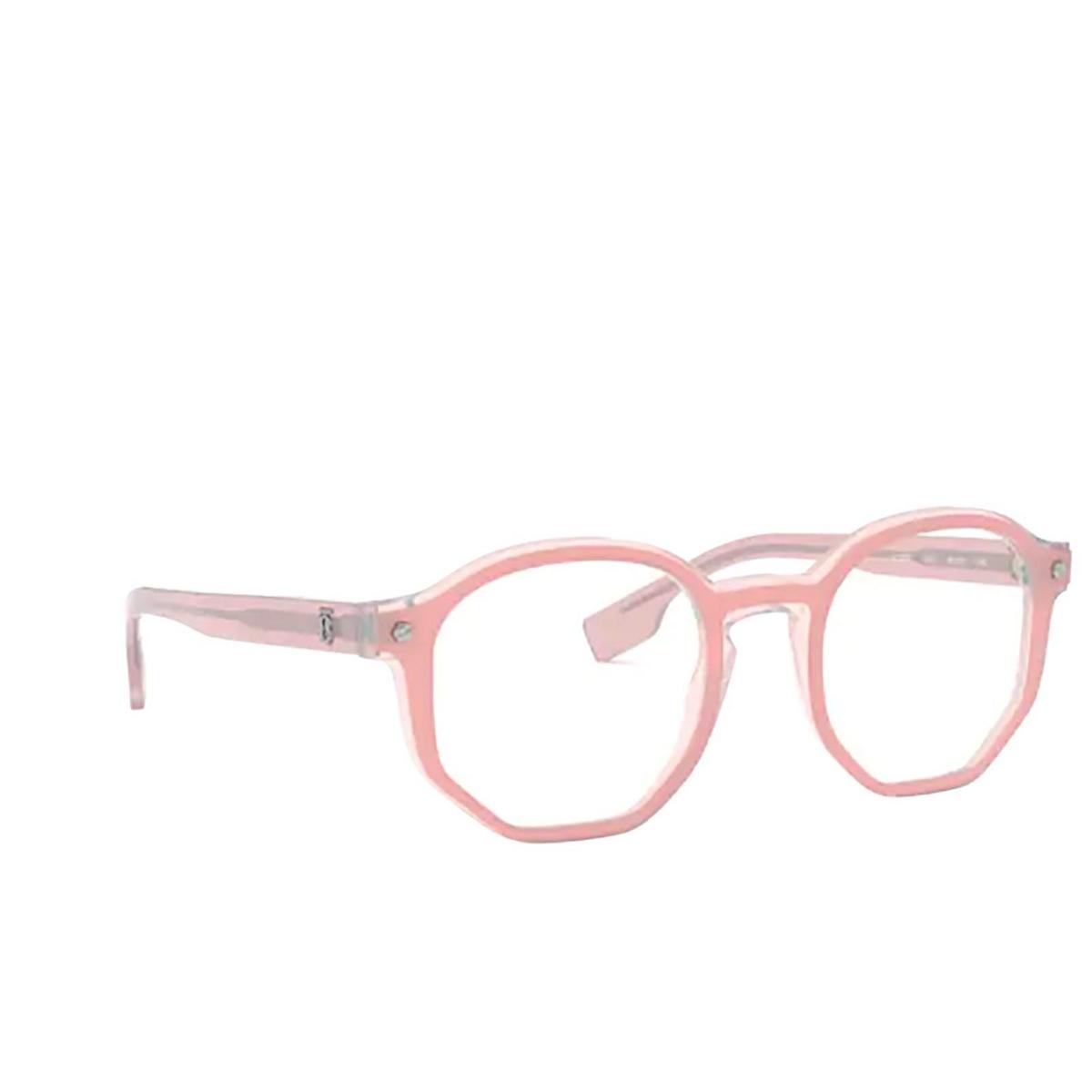 Burberry® Irregular Eyeglasses: Hogarth BE2317 color Top Opal Pink On Pink Transparent 3847 - three-quarters view.