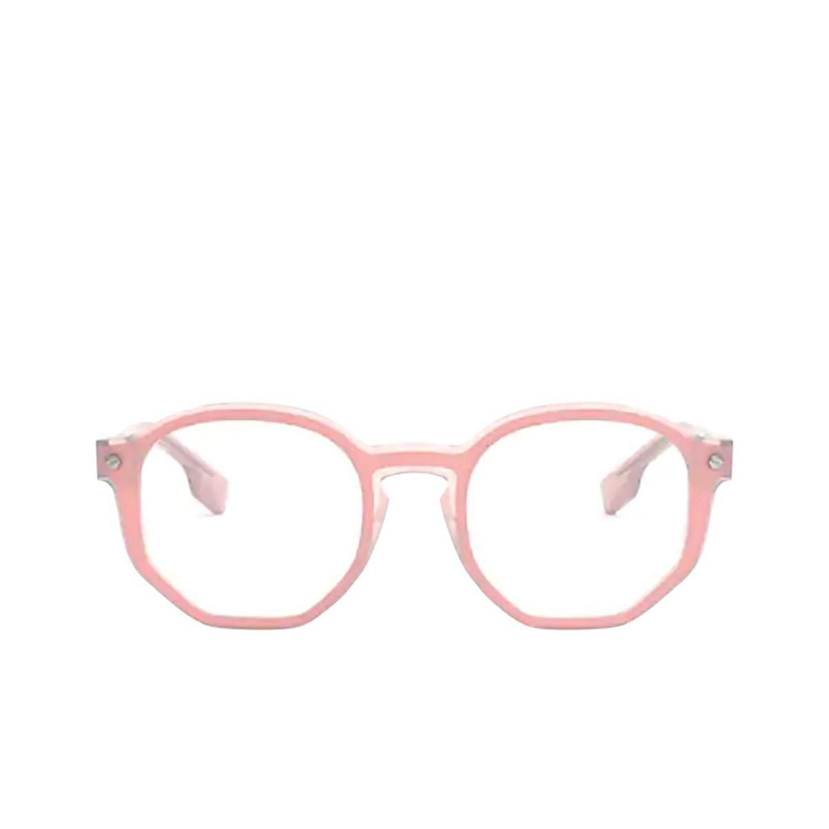 Burberry® Irregular Eyeglasses: Hogarth BE2317 color Top Opal Pink On Pink Transparent 3847 - front view.