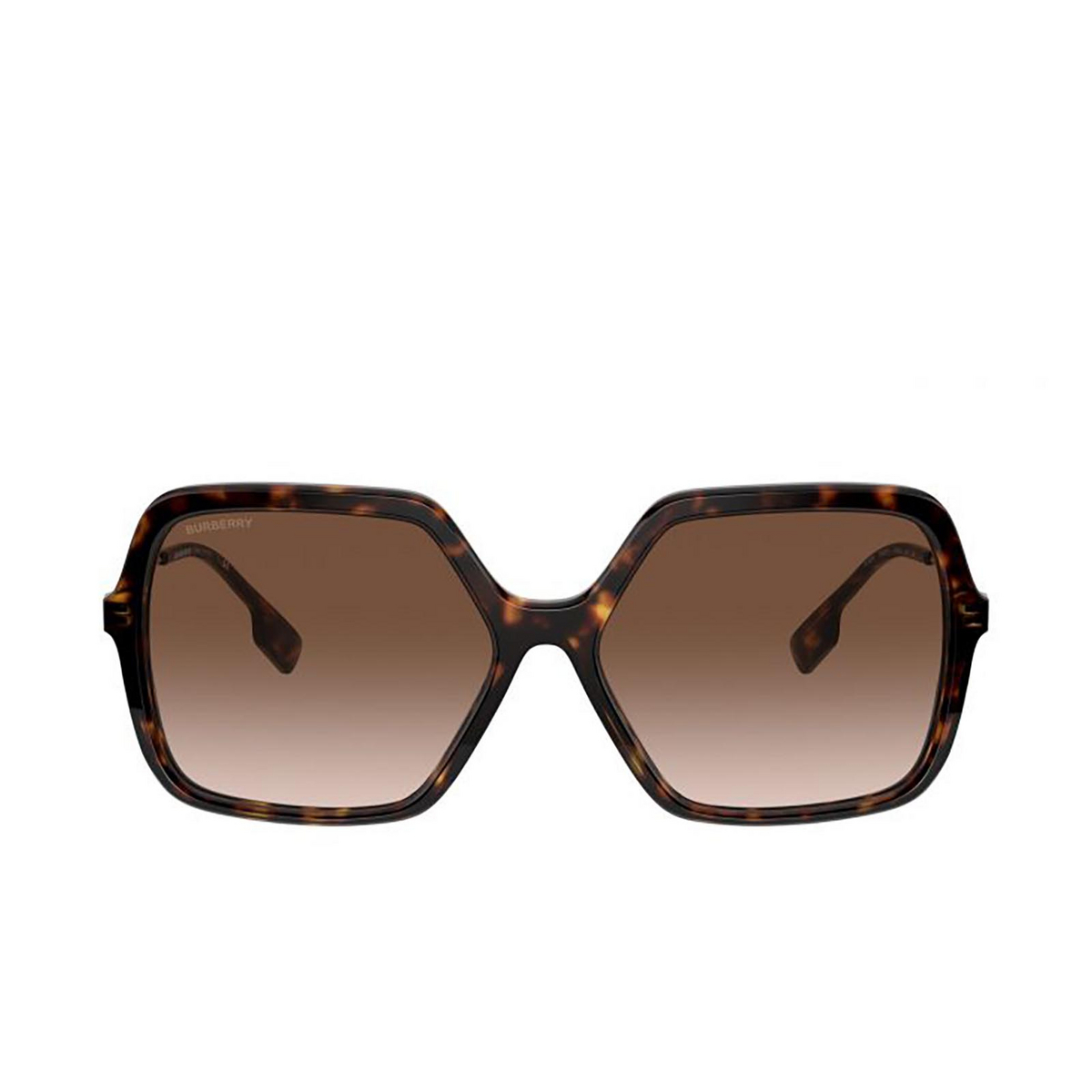Burberry® Square Sunglasses: Isabella BE4324 color Dark Havana 300213 - front view.
