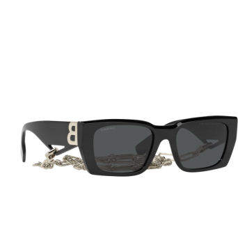 Burberry® Rectangle Sunglasses: Poppy BE4336 color Black 392887.