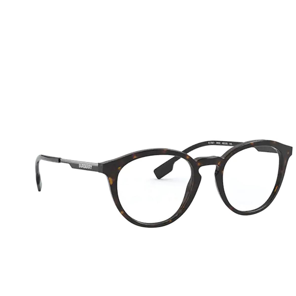 Burberry® Round Eyeglasses: Keats BE2321 color Dark Havana 3002 - three-quarters view.