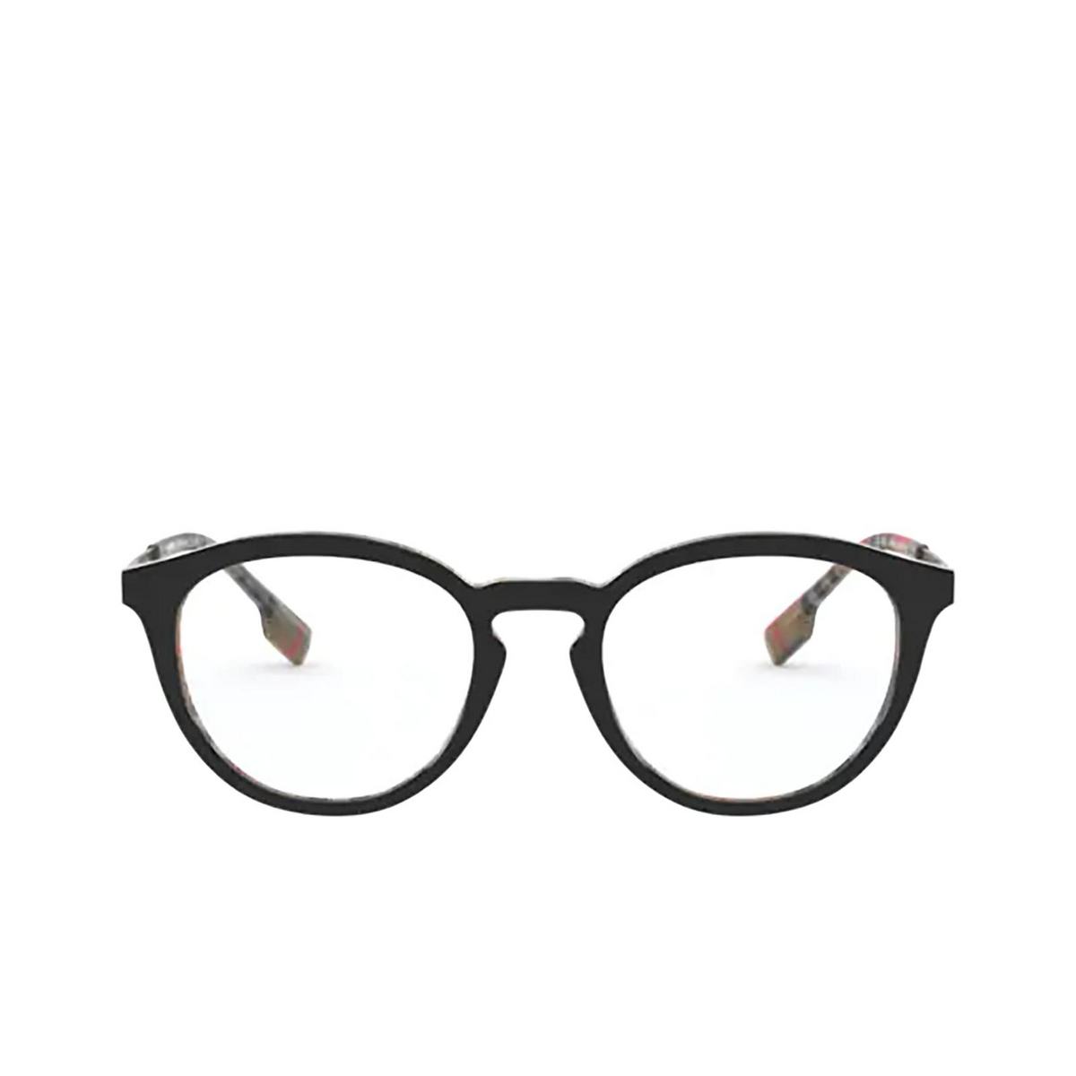 Burberry® Round Eyeglasses: Keats BE2321 color Top Black On Vintage Check 3838 - front view.
