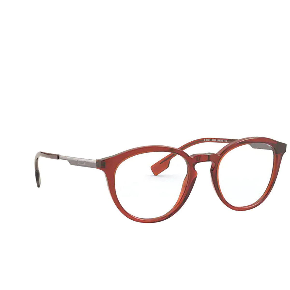 Burberry® Round Eyeglasses: Keats BE2321 color Brown 3846 - three-quarters view.
