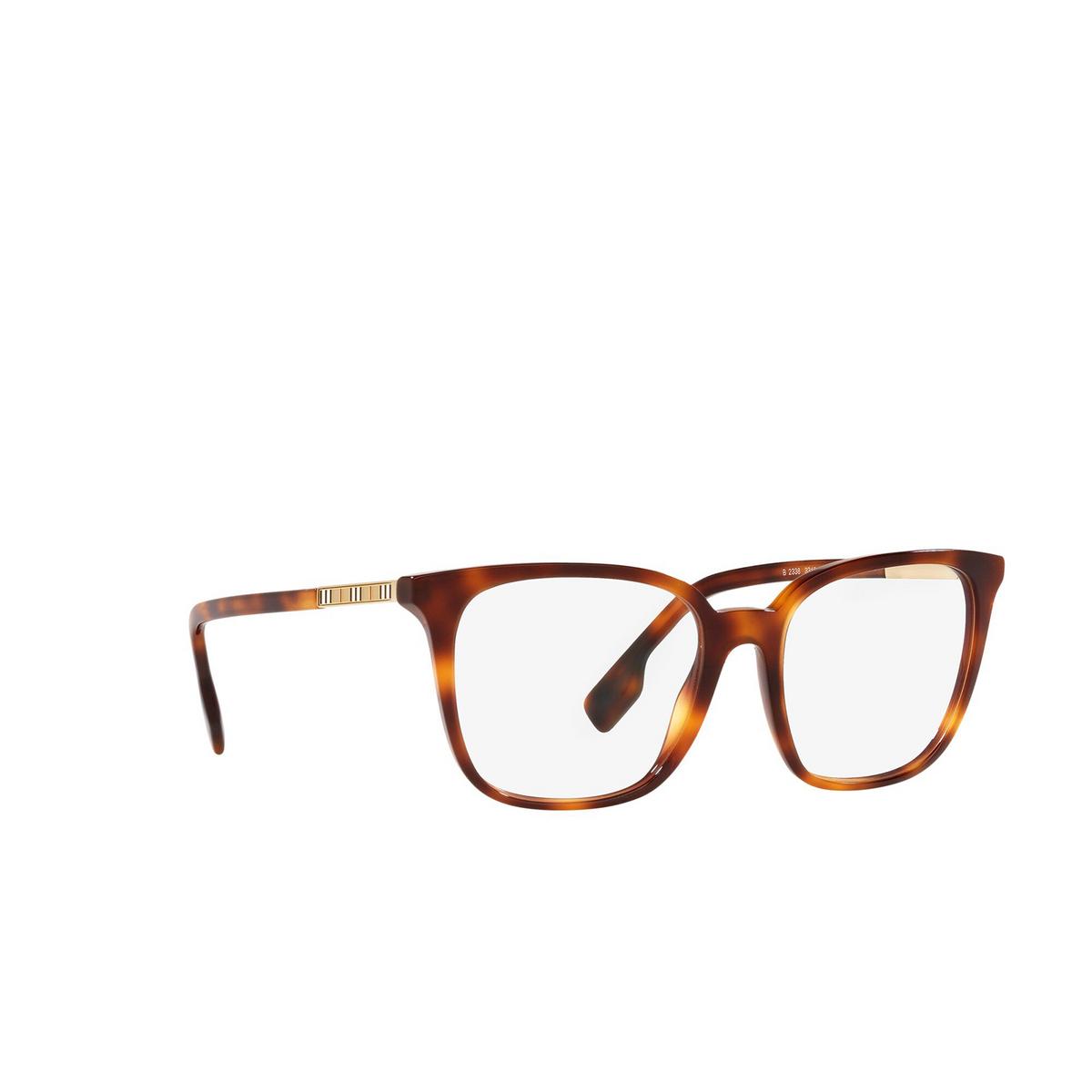 Burberry® Square Eyeglasses: Leah BE2338 color Light Havana 3316 - three-quarters view.