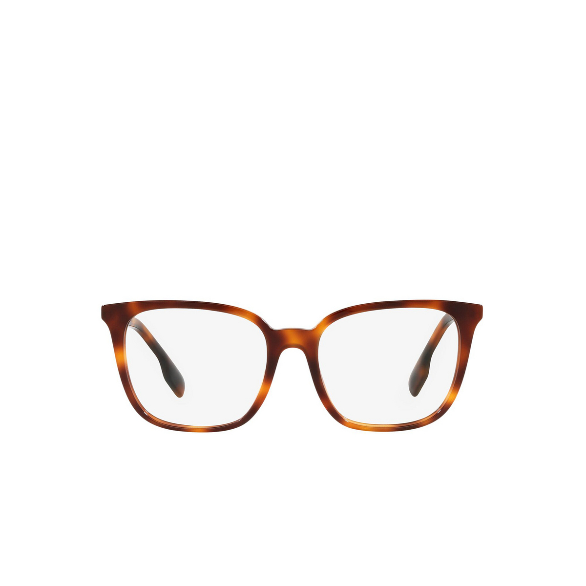 Burberry® Square Eyeglasses: Leah BE2338 color Light Havana 3316 - front view.