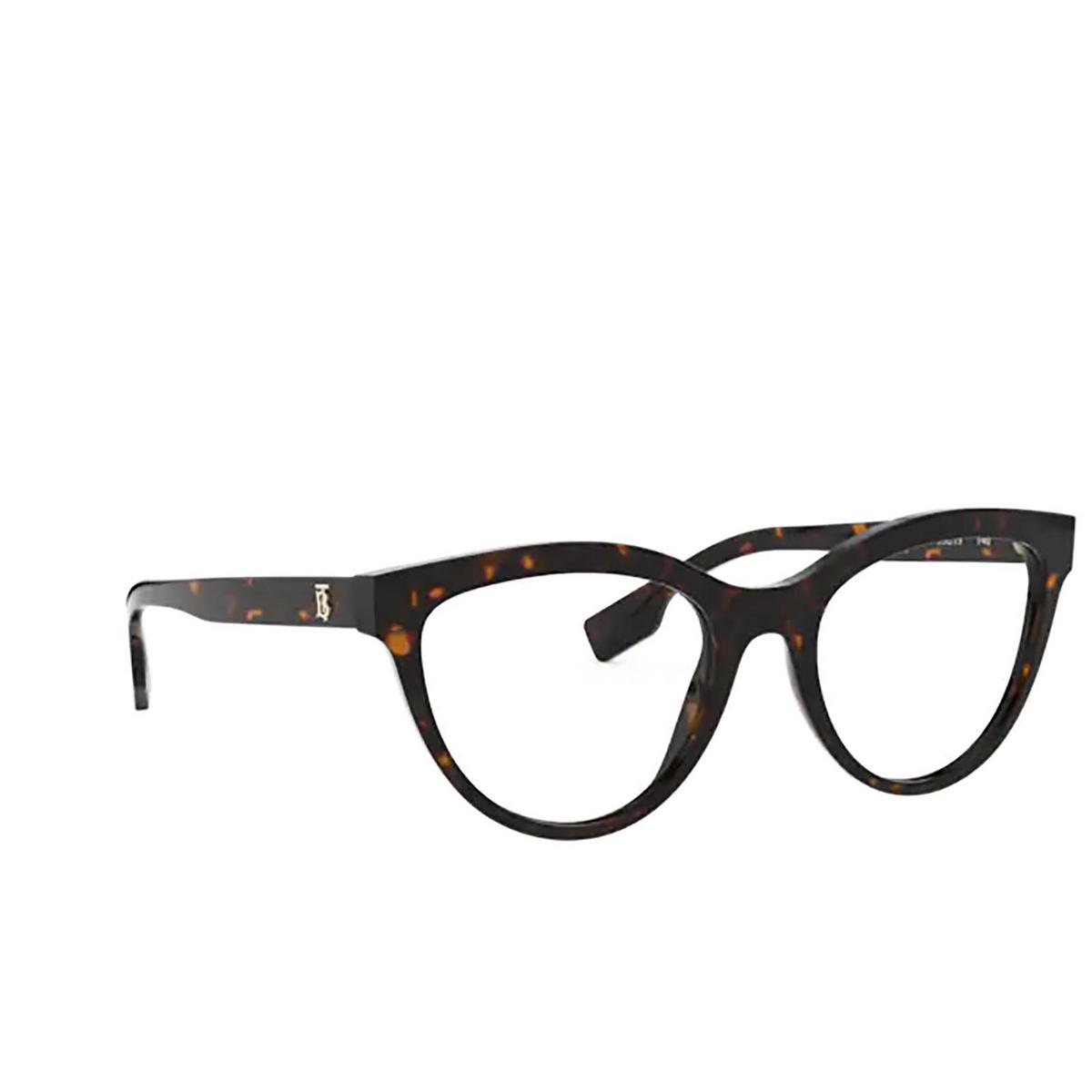 Burberry® Cat-eye Eyeglasses: Lillie BE2311 color Dark Havana 3002 - three-quarters view.