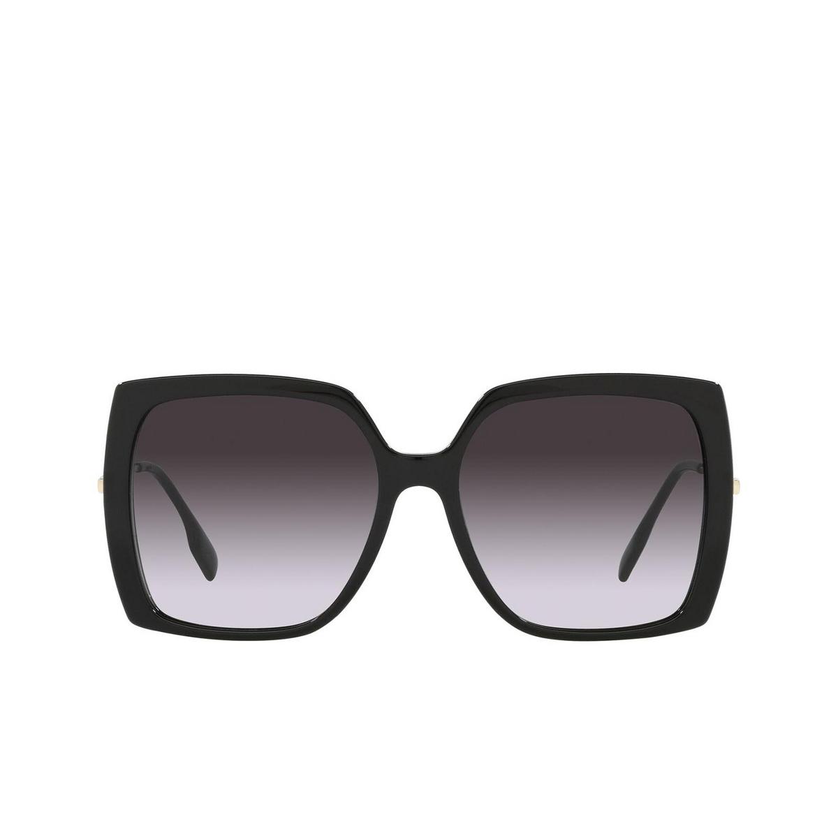 Burberry® Square Sunglasses: Luna BE4332 color Black 30018G - front view.