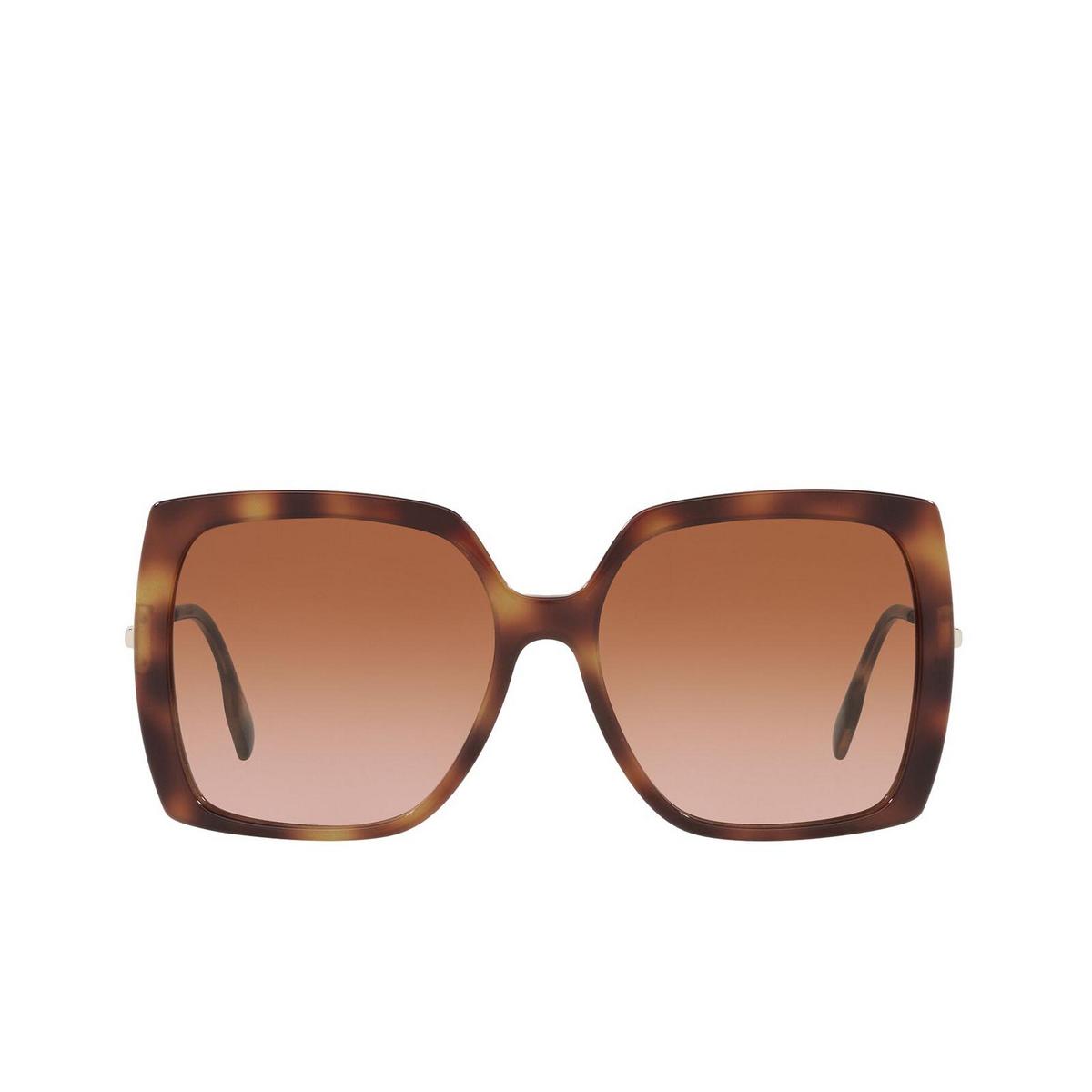 Burberry® Square Sunglasses: Luna BE4332 color Light Havana 331613 - front view.
