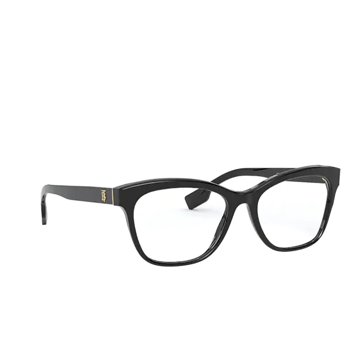 Burberry® Square Eyeglasses: Mildred BE2323 color Black 3001 - three-quarters view.