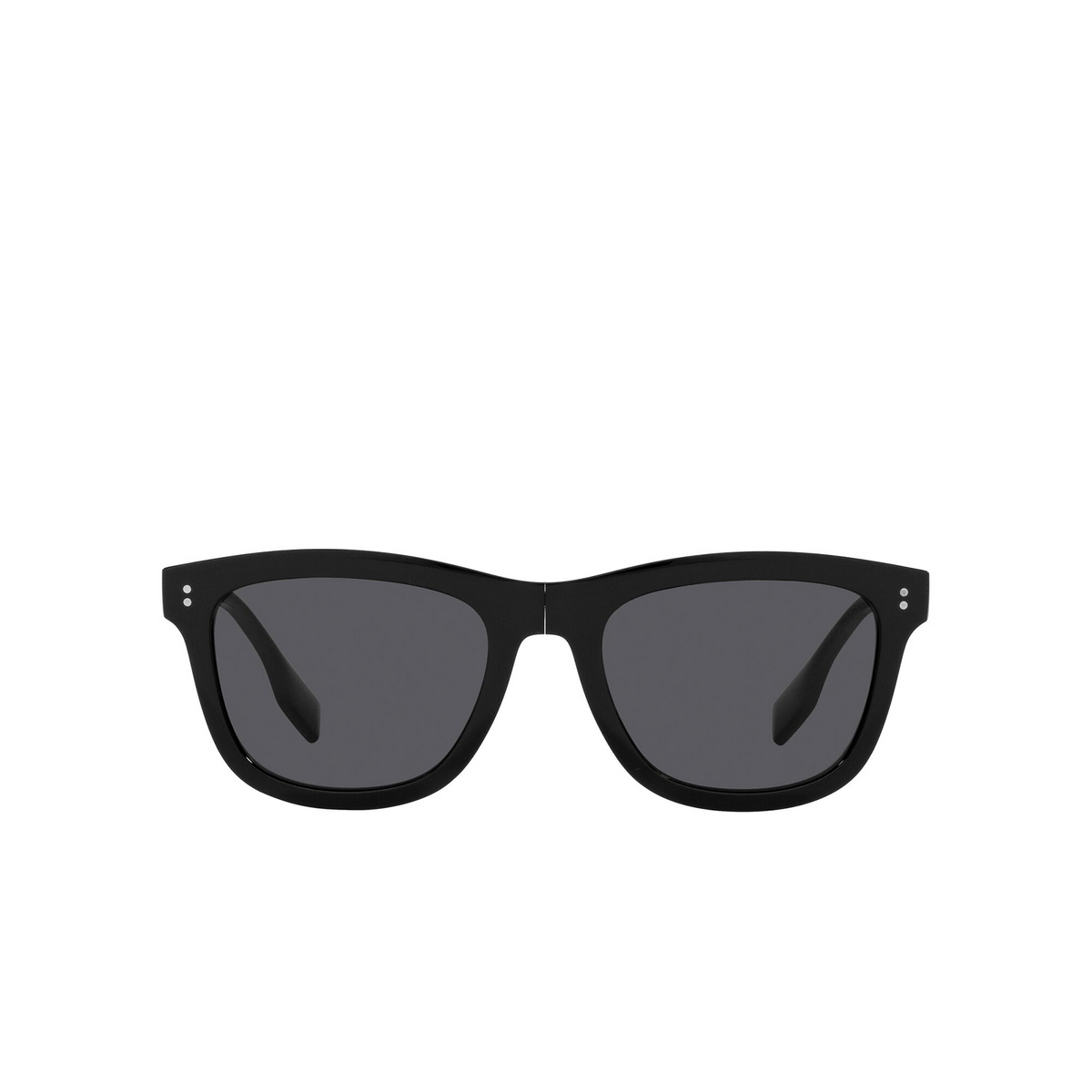 Burberry® Square Sunglasses: Miller BE4341 color Black 3001T8 - front view.