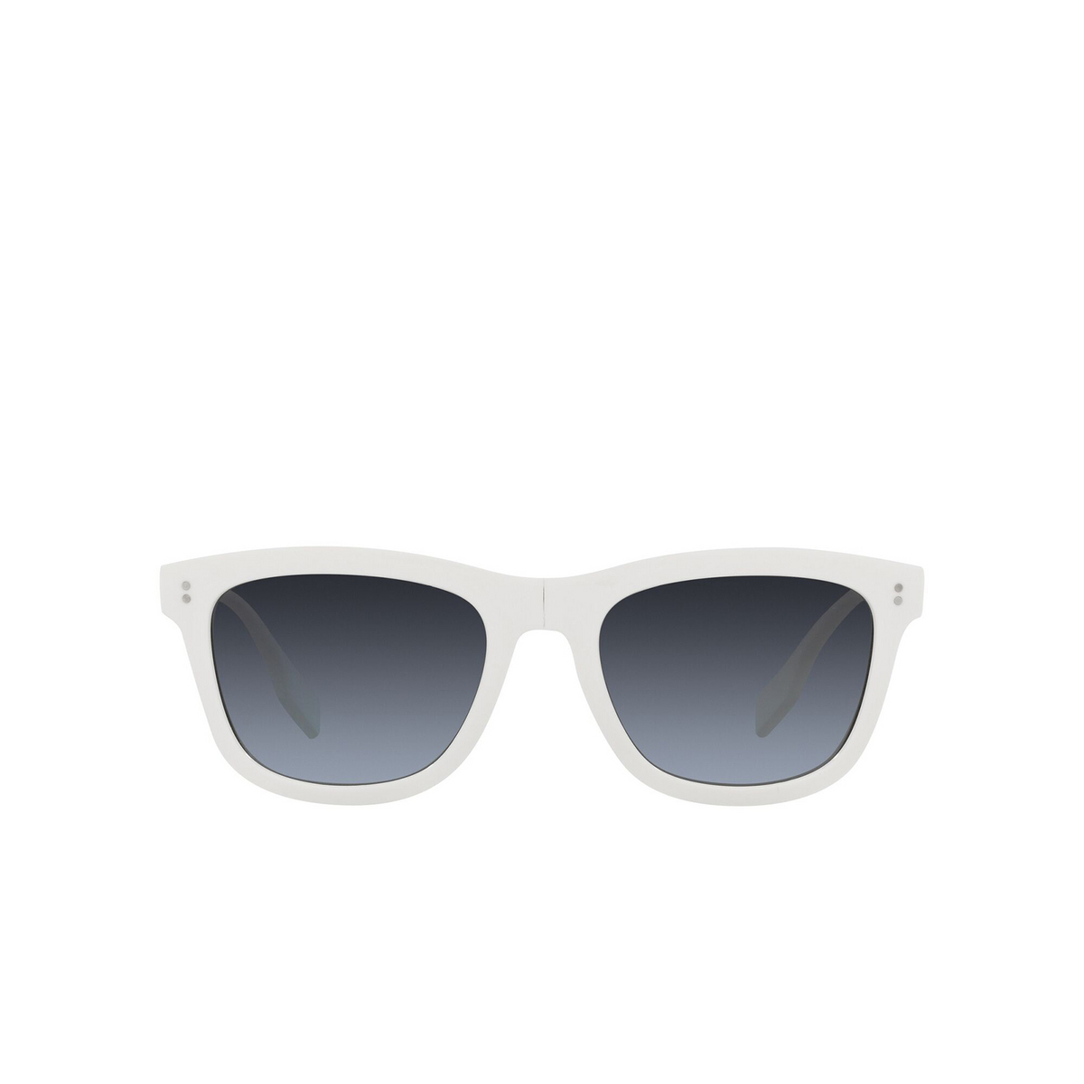 Burberry® Square Sunglasses: Miller BE4341 color White 3007K4 - front view.