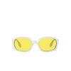 Burberry® Oval Sunglasses: Milton BE4338 color White 300785 - product thumbnail 1/3.