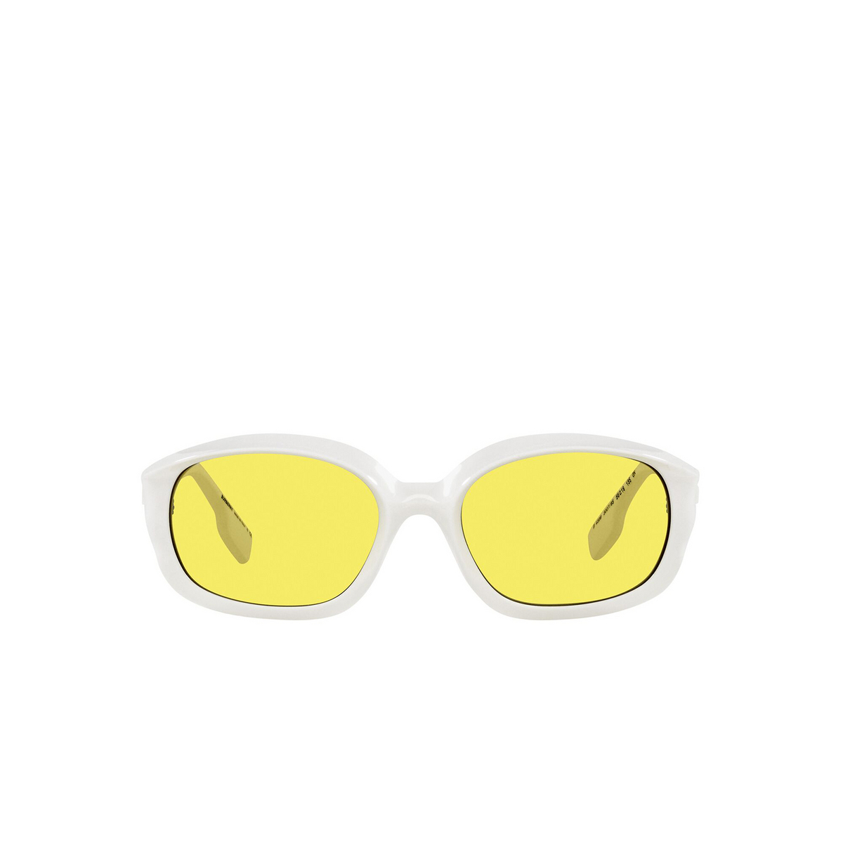 Burberry® Oval Sunglasses: Milton BE4338 color White 300785 - front view.