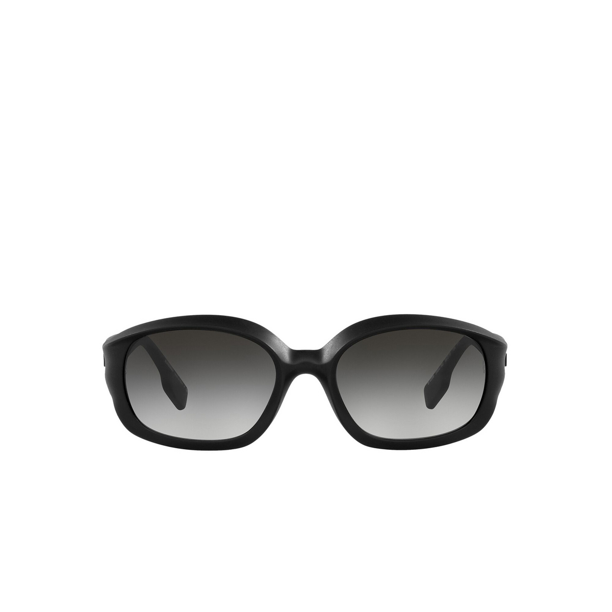 Burberry® Oval Sunglasses: Milton BE4338 color Black 34648G - front view.