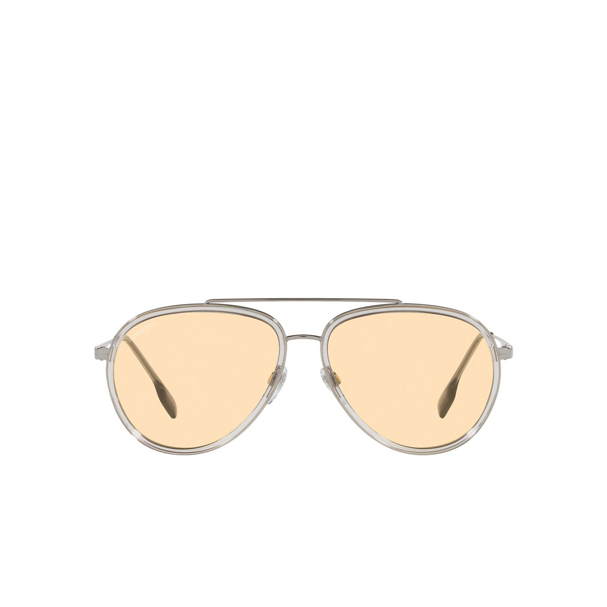 Burberry® Aviator Sunglasses: Oliver BE3125 color Gunmetal 1003/8 - front view.