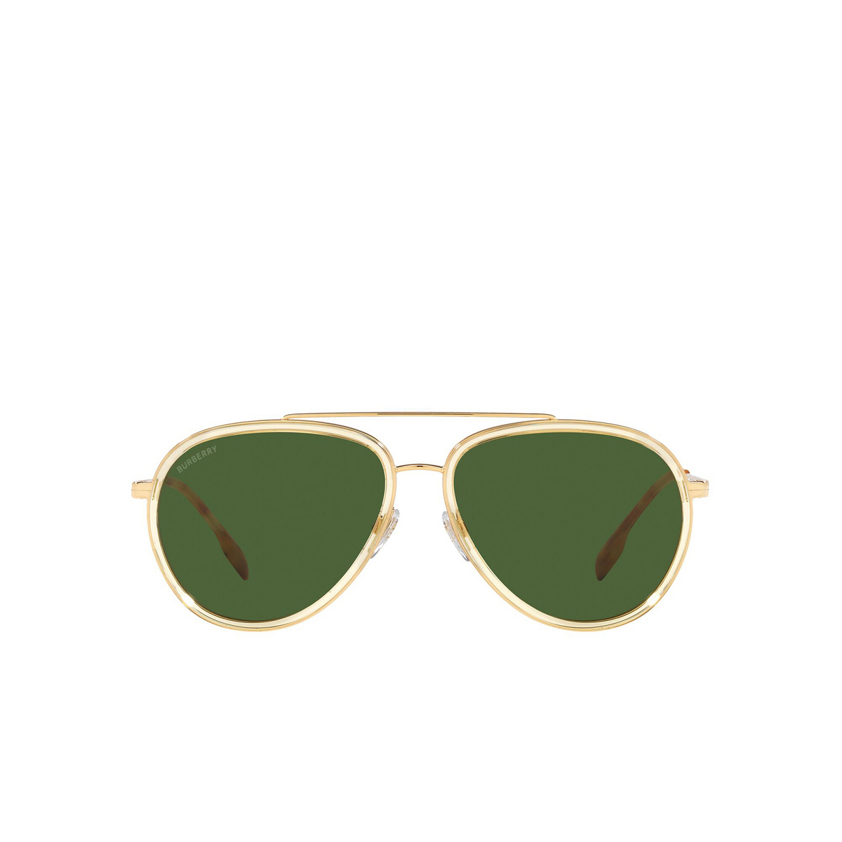 Burberry® Aviator Sunglasses: Oliver BE3125 color Gold 101771 - front view.