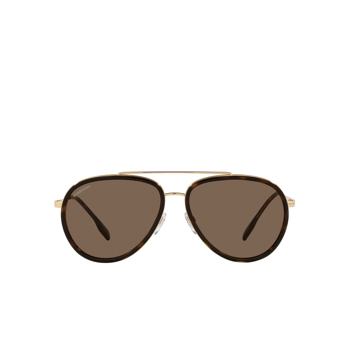 Burberry® Aviator Sunglasses: Oliver BE3125 color Gold 101773 - front view.