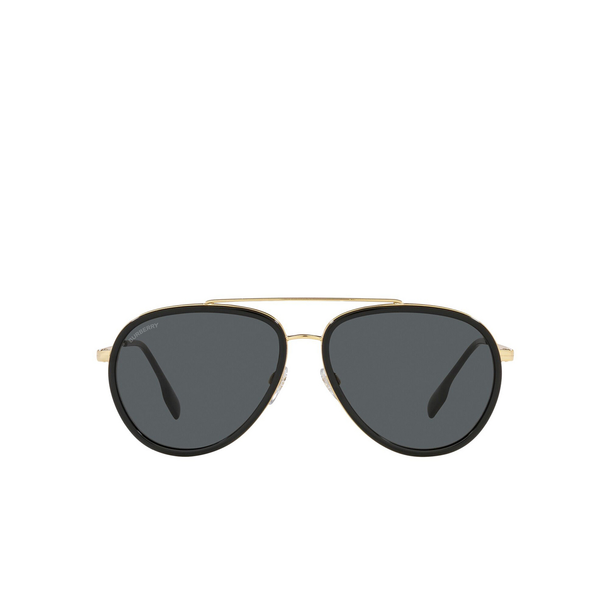 Burberry® Aviator Sunglasses: Oliver BE3125 color Gold 101787 - front view.