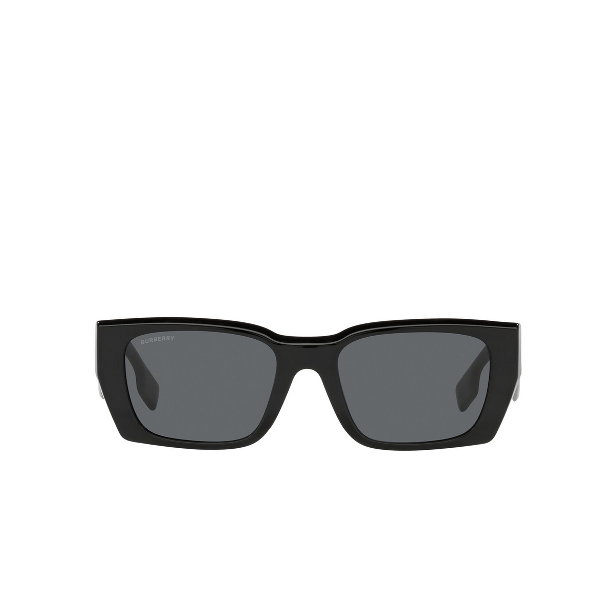 Burberry® Rectangle Sunglasses: Poppy BE4336 color Black 387887 - front view.