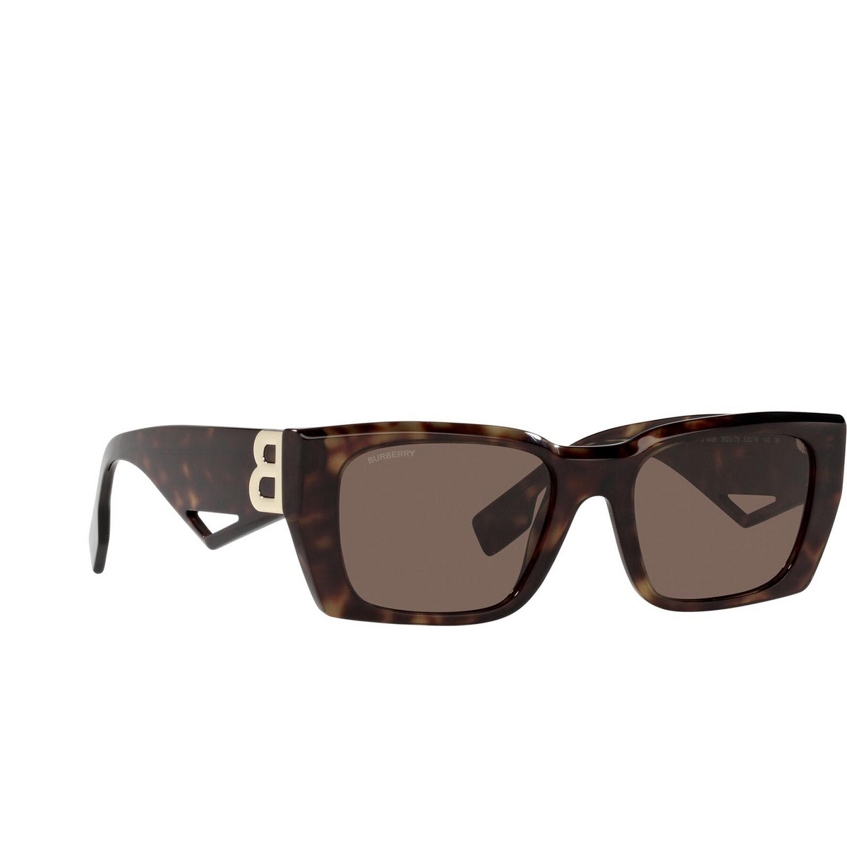 Burberry® Rectangle Sunglasses: Poppy BE4336 color Dark Havana 392073.