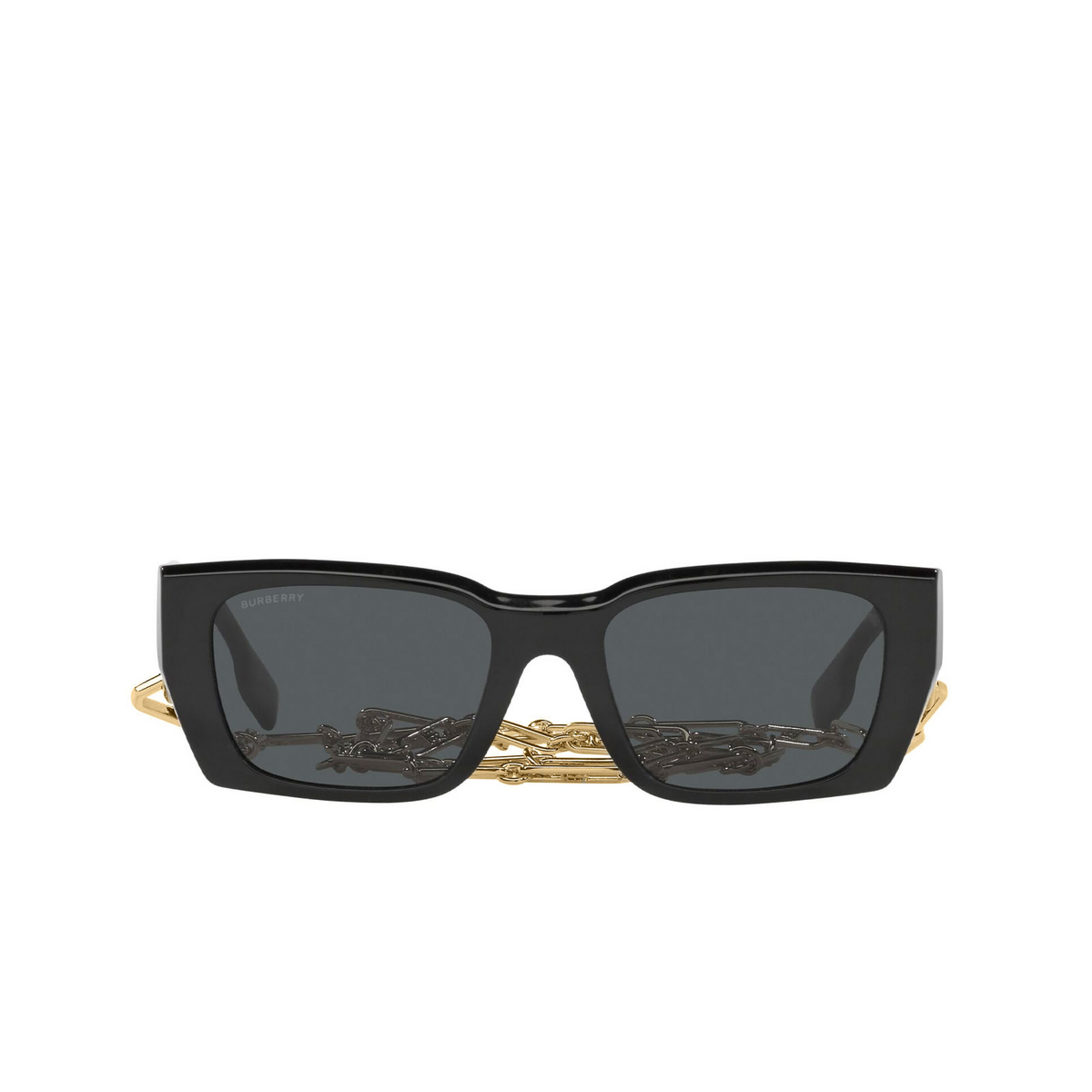 Burberry® Rectangle Sunglasses: Poppy BE4336 color Black 392887 - front view.