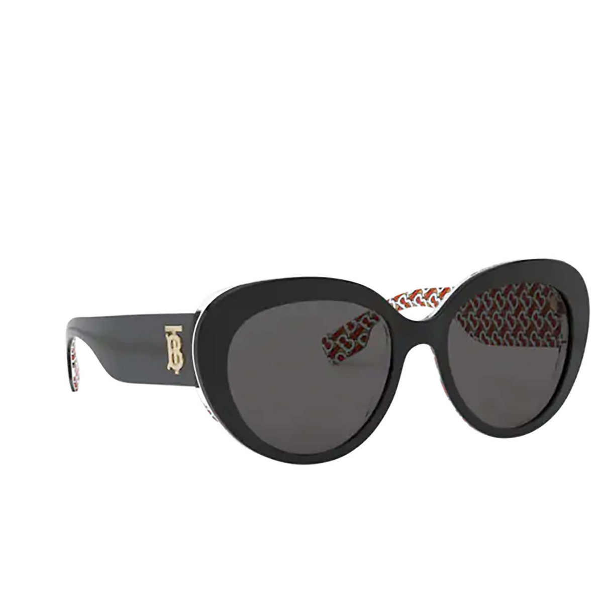 Burberry® Oval Sunglasses: Rose BE4298 color Top Black On Print Tb Red 382287.