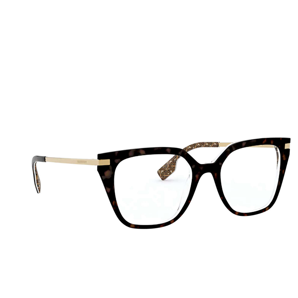 Burberry® Butterfly Eyeglasses: Seaton BE2310 color Top S9 On Tb Brown 3827 - three-quarters view.