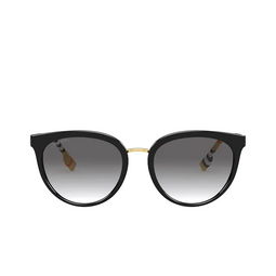Burberry® Round Sunglasses: Willow BE4316 color Black 385311.