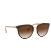 Burberry® Round Sunglasses: Willow BE4316 color Dark Havana 389013 - product thumbnail 2/3.