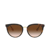 Burberry® Round Sunglasses: Willow BE4316 color Dark Havana 389013 - product thumbnail 1/3.