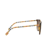 Burberry® Round Sunglasses: Willow BE4316 color Dark Havana 389013 - product thumbnail 3/3.