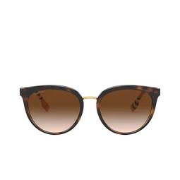 Burberry® Round Sunglasses: Willow BE4316 color Dark Havana 389013.